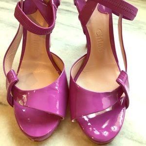 Chloe patent leather shoe